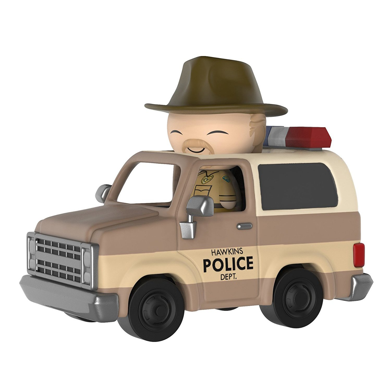 BCC944V70 21490 Funko Sheriff Deputy Truck Hopper Dorbz Ridez x Stranger Things Vinyl Figure 1 American TV Themed Trading Card Bundle