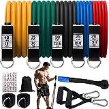 Bandas de Resistencia Bandas Elasticas Bandas de resistencia para ejercicio Bandas Elasticas Fitness con 5 tubos de fitness/m