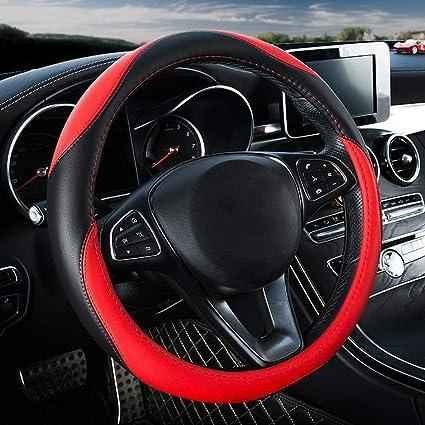 Amazon.com: Maerye Wear-Resistant Anti-Slip Leather Steering ...