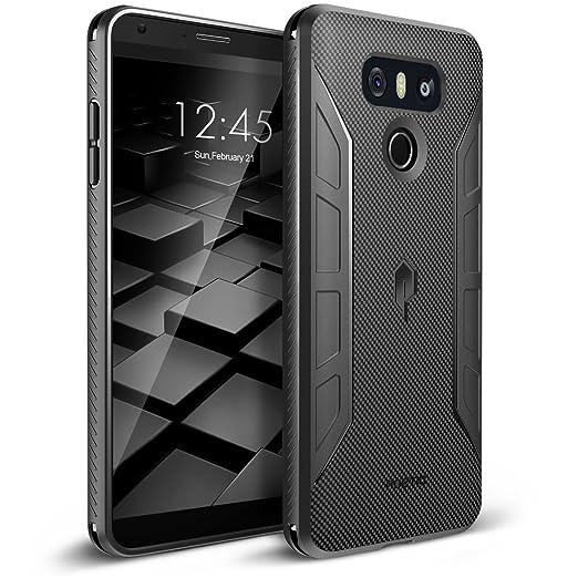 7 opinioni per Custodia per LG G6, serie con scocca in carbonio-[protezione tattile antiurto