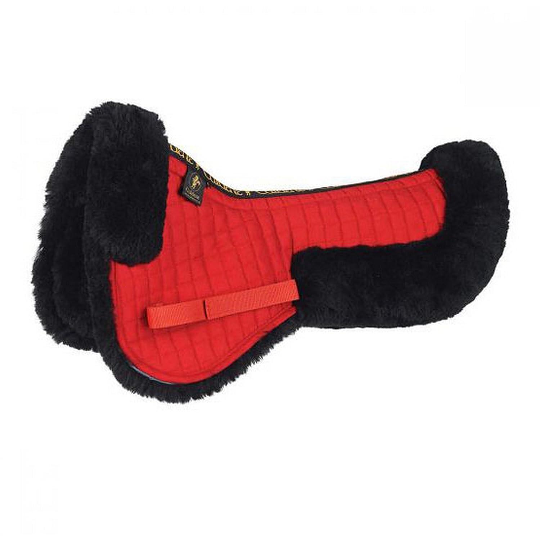 Red UK Size  Pony Red UK Size  Pony Caldene Sheepskin Half Pad (UK Size  Pony) (Red)