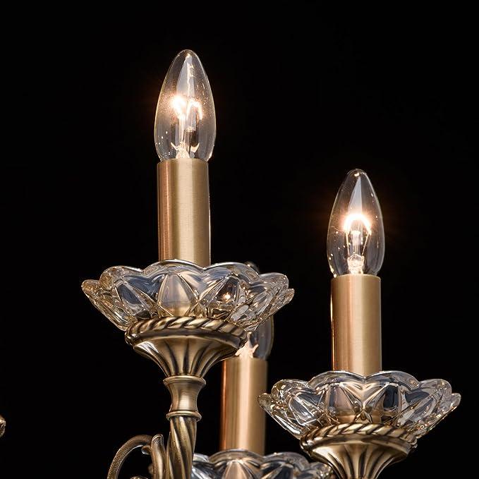 WXQ Lustres /à Bougie en Alliage cr/éatif d/écoration de Cour r/étro Cadeau Romantique Table de d/îner aux chandelles Accessoires de Mariage Chandelier Couleur: Rouge