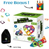 Magnetic Building Blocks for Kids | Educational Toys for Boys and Girls | Magnets Construction Tiles for Children | Build Any Model with these Genius Magnet Kits | Tiles of Different Shapes and Colors | Best Toy For Any Age | 82 Pcs Set