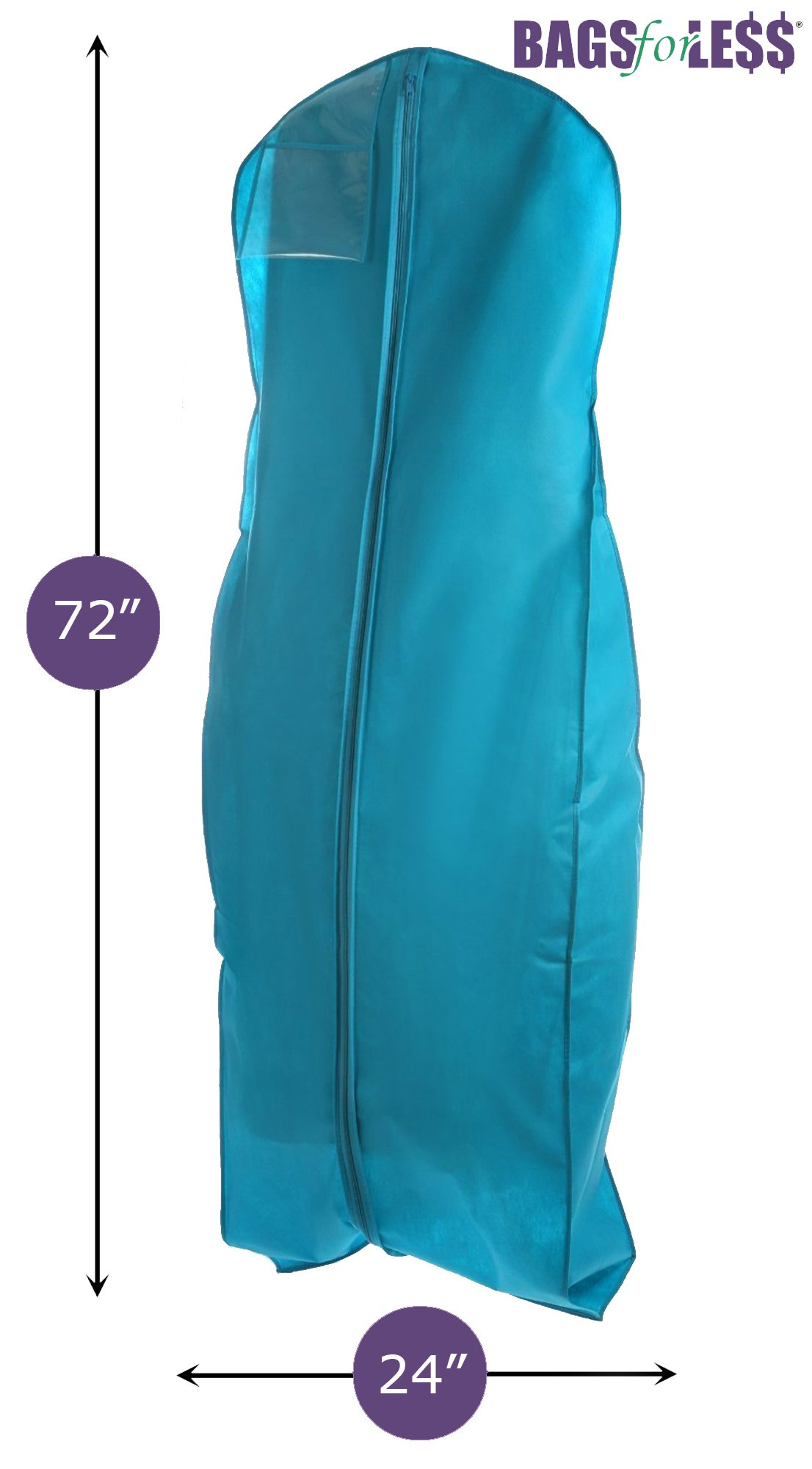 Turquoise Wedding Gown Travel Storage Garment Bag By Bags For Less