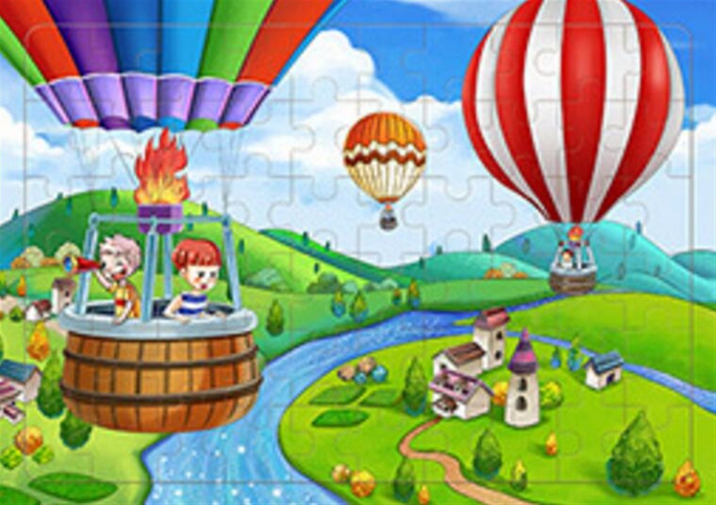 YChoice Educational Puzzle Kids Creative Wooden Educational Story Puzzle Early Learning Toy Fantastic Gifts Kids(Hot Air Balloon)