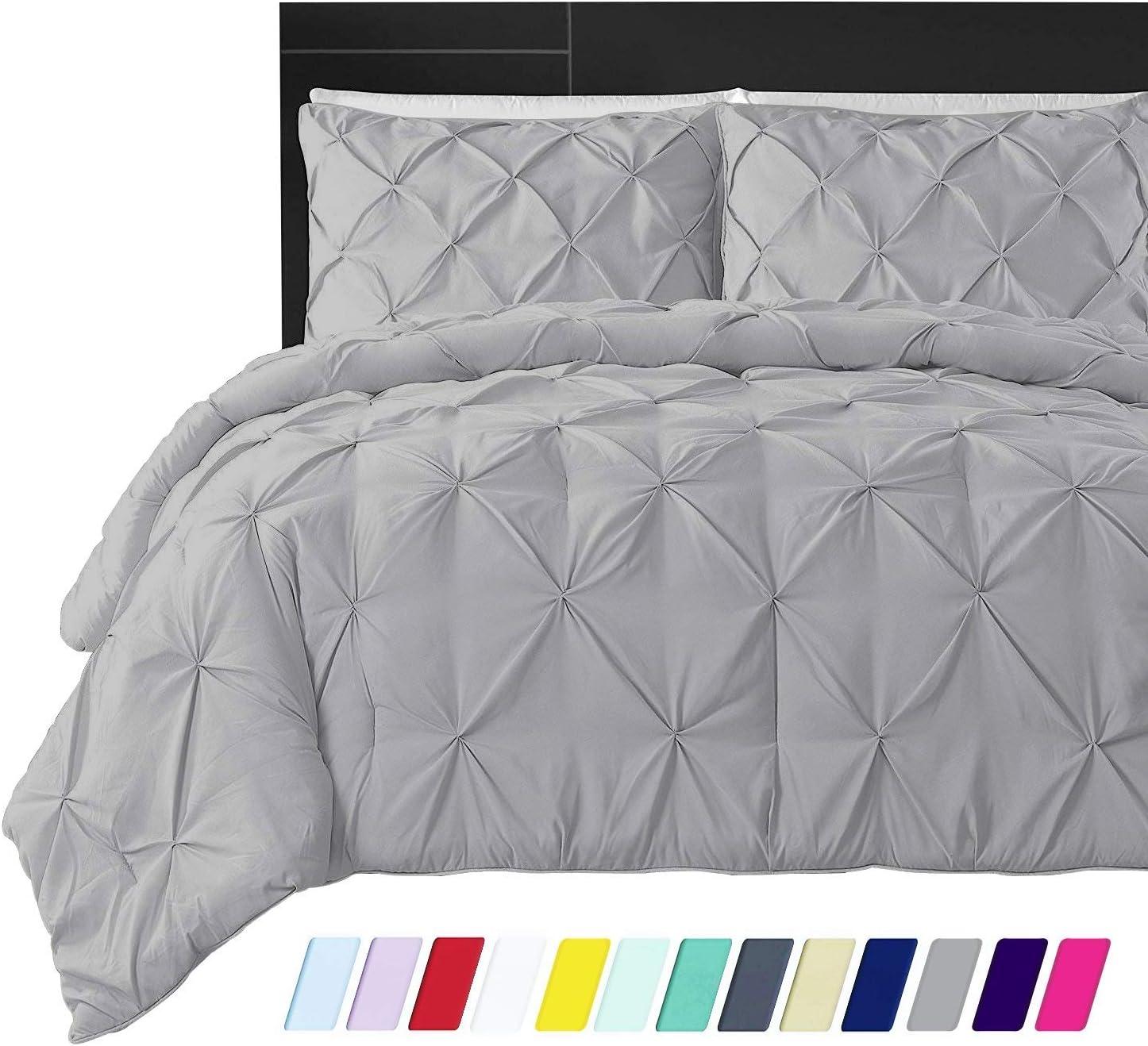 Designer 600 Thread Count Egyptian Cotton 1-PC Duvet Cover with Hidden Zipper Closure /& Corner Ties Solid Twin//Twin XL, Black