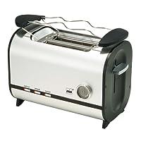 Mia TA4707 Doppelschlitz-Toaster Alu