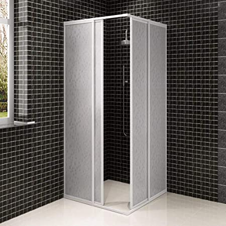 SOULONG Mampara de Ducha, Pared de Bañera Plegable, Mampara de Ducha con Marco de Aluminio, 90 x 90 cm: Amazon.es: Hogar