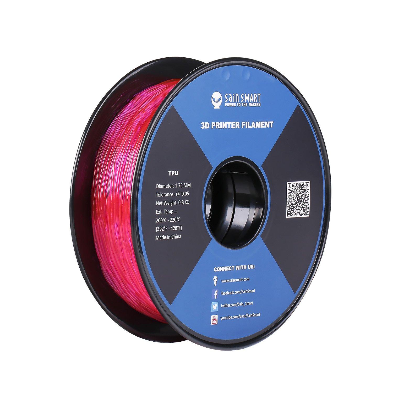 SainSmart Pink Flexible TPU 3D Printing Filament, 1.75 mm, 0.8 kg, Dimensional Accuracy +/- 0.05 mm TPU-PNK-0.8KG1.75