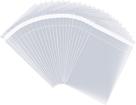 1000 Quality 5/' X 7/' Cello Greeting Card Bags Crystal Clear Self Seal