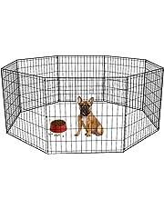 """BestPet Puppy Pet Playpen 8 Panel Indoor Outdoor Metal Protable Folding Animal Exercise Dog Fence,24"""",30"""",36"""",42"""",48"""""""