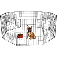 BestPet Puppy Pet Playpen 8 Panel Indoor Outdoor Metal Protable Folding Animal Exercise Dog…