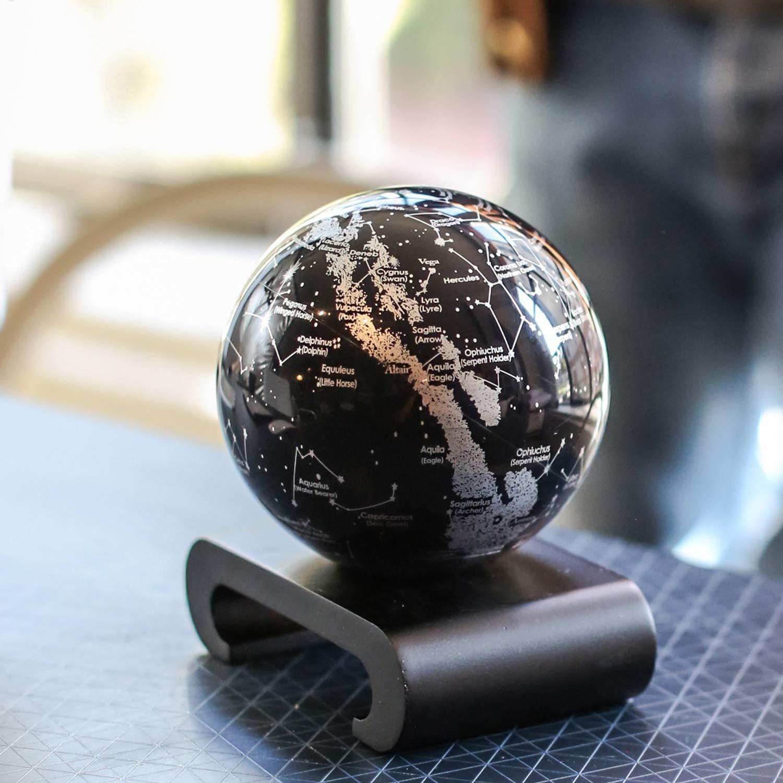 Mova 4.5 Silver and Black Constellations Globe MG45STA