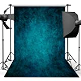 Photography Backdrop, 1.5 x 2.2 m Retro Art Blue Portrait Backdrop For Studio Props Photo Backdrop