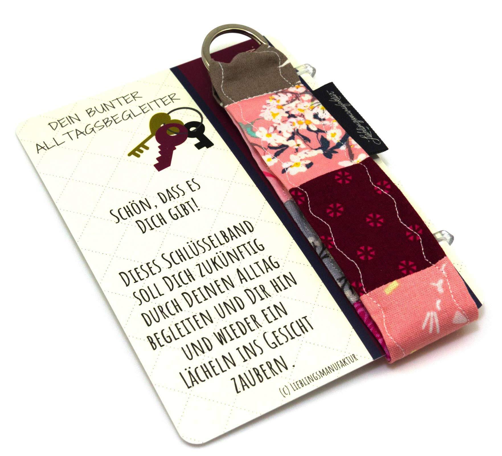 Danke an Freundin – Schön, dass es Dich gibt – Geschenk zur Freundschaft unter Freundinnen – persönliche Geschenkidee aus Karte und Schlüsselanhänger, die ein Lächeln ins Gesicht zaubert Bild