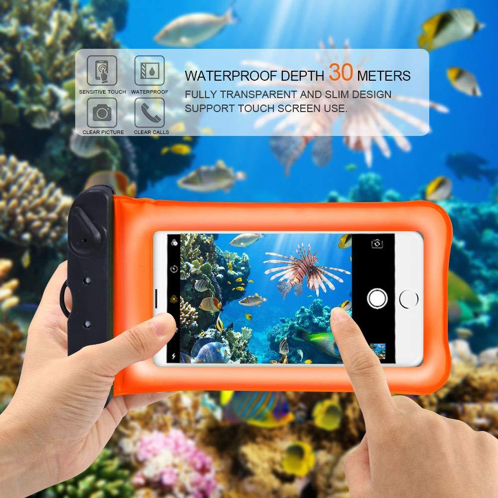 Camo 7 Waterproof Case avec Boussole pour Samsung iPhone Huawei Wiko Xiaomi Sony LG Housse Etui Coque T/él/éphone Portable Etanche Universel Certifi/ée IPX8 Dyluck Pochette Etanche T/él/éphone, 6