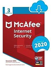 McAfee Internet Security 2020 | 3 Dispositivi | 1 Anno | PC/Mac/Smartphone/Tablet | Codice d'attivazione via email