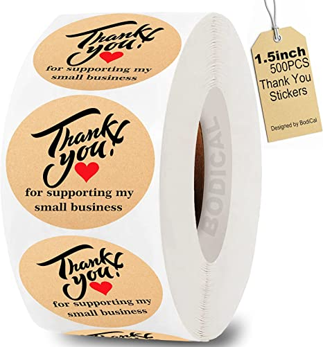 500Pcs Thank You For Your Purchase Handmade Sticker Seal Labels For Small Shop