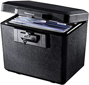 SentrySafe 1170 Fireproof Box with Key Lock 0.61 Cubic Feet (New Pack of 2)