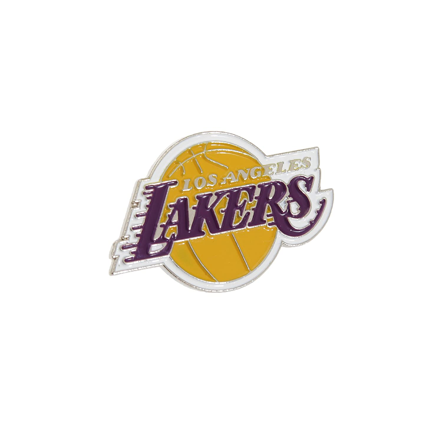 NBA Los Angeles Lakers ufficiale in Metallo con Stemma Spilla TU Football Souvenirs BDUKNBCRSLAL