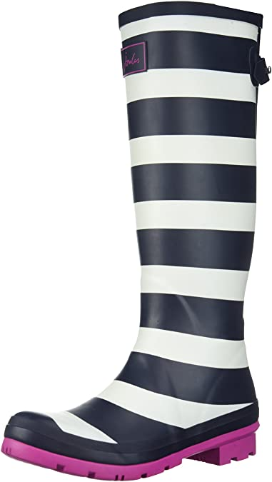 Tom Joule Damen Y_Wellyprint Gummistiefel, Blau (Navy Wide Stripe), 40/41 EU