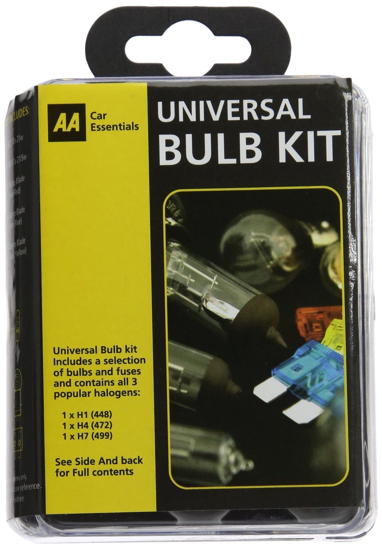 AA Car Essentials Compact Universal Bulb Kit