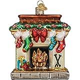 44052 N Glass Ornament w//OWC Box Old World Christmas Holiday Skates