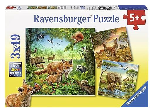 3 opinioni per Ravensburger 09330- Animali Del Mondo Puzzle, 3 x 49 Pezzi