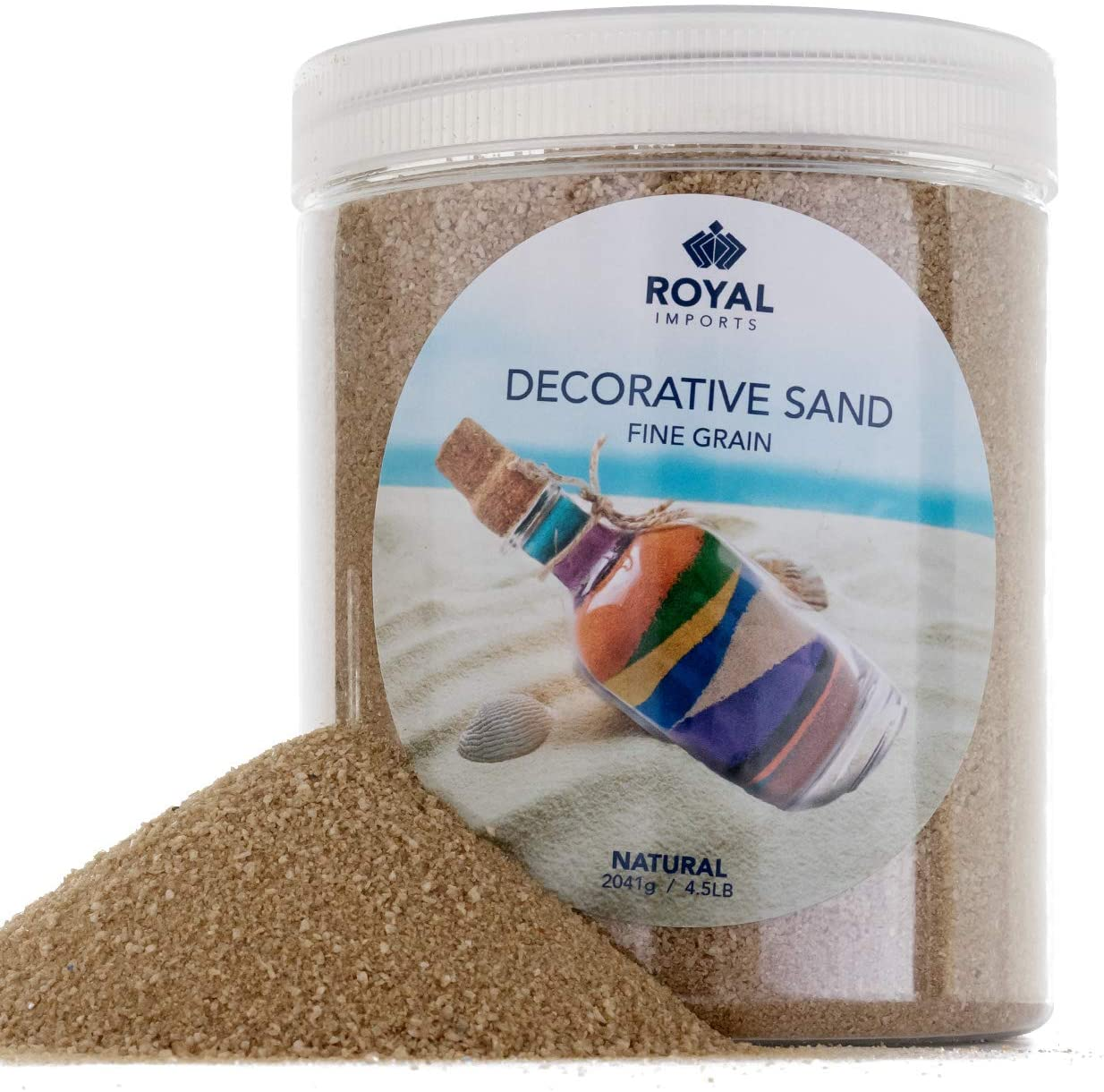 Royal Imports 4.5 LBS Colored Decorative Beach Sand for Vase Filler, Wedding, Home Décor, Crafts and Therapy Play, Natural Beige