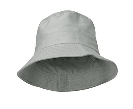 Peach Couture Pure Cotton Fisherman Style Double Layer Reversible Bucket Hat  (Grey)  Amazon.co.uk  Clothing 07c5094b710