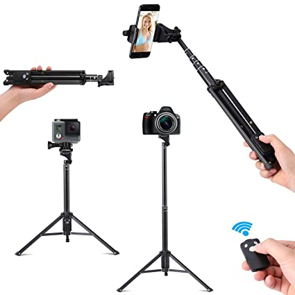 Amazon.com: cleno cámara 54 inch Selfie Stick/Palo para ...