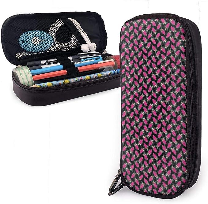UKFaaa - Estuche de Piel con Cremallera para lápices, diseño de cucaracha, Color Rosa, Negro, Talla única: Amazon.es: Hogar