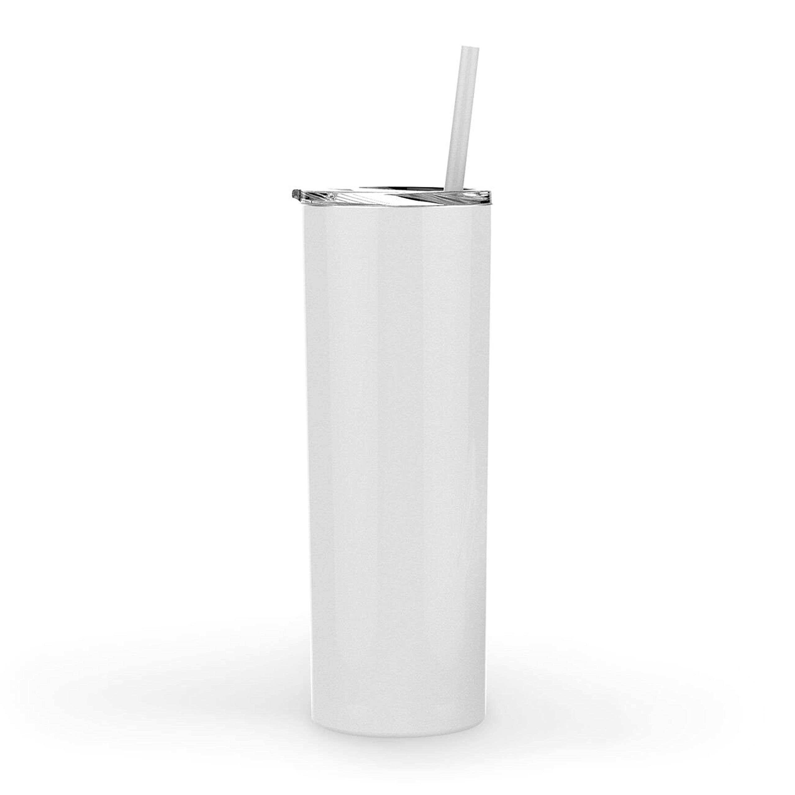 Stellar 20 oz. Skinny Steel 12 Pack Double Wall Stainless Tumbler (White) by Stellar (Image #2)