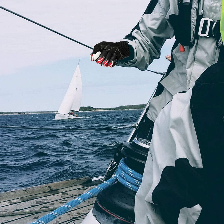 Vgo.. Rojo, SL0057-FM Canotaje Remo y Kayak para Mujer Guantes de Vela