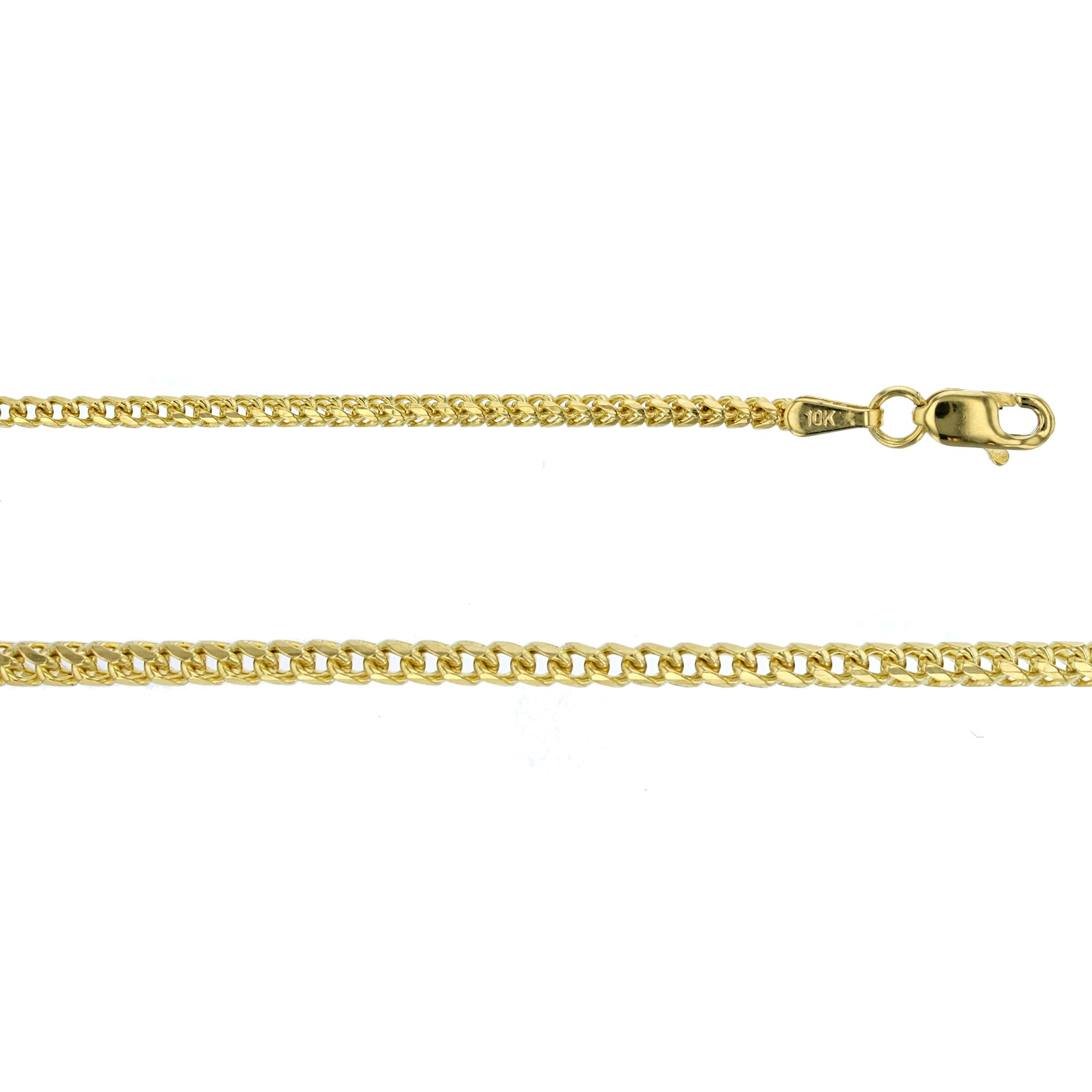 14K Yellow Gold 1.72mm 22'' Solid Franco 050 Chain