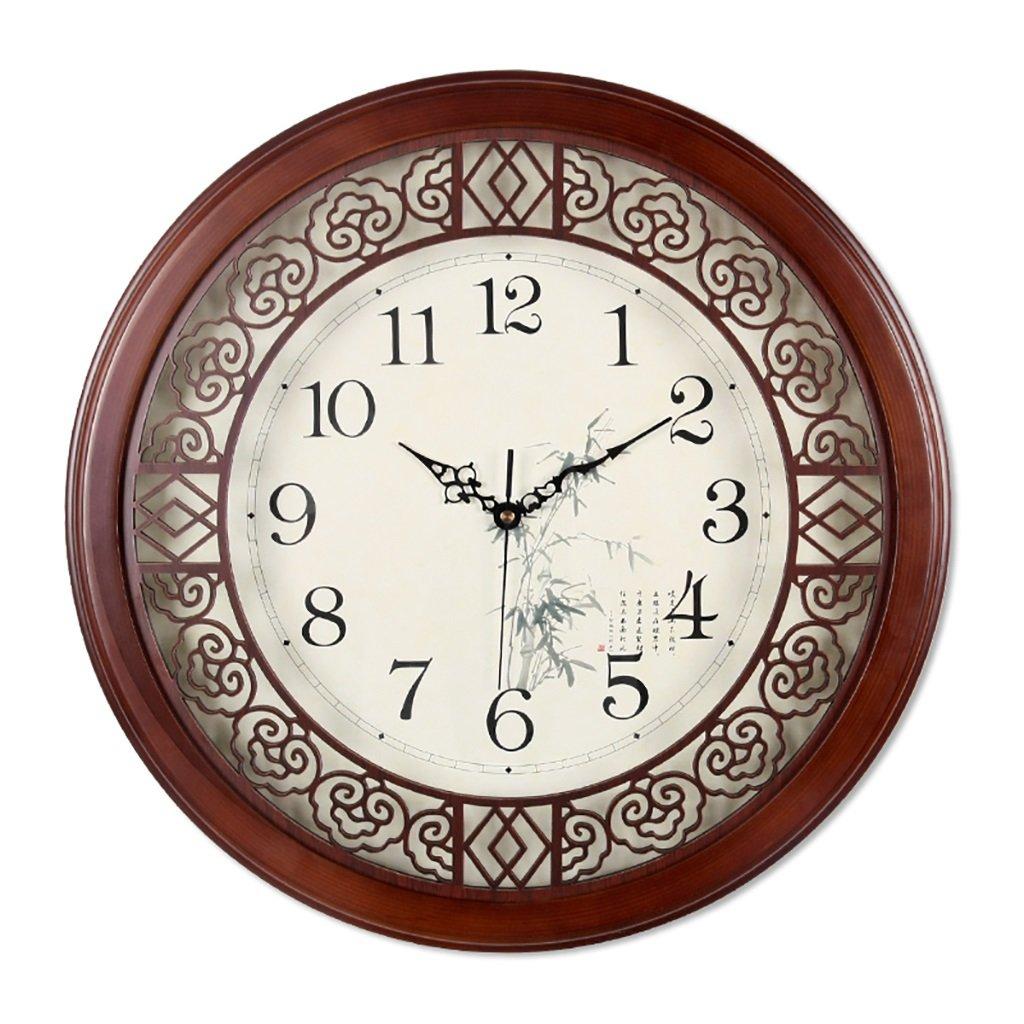 SESO UK- Design Runde Vintage Retro Wanduhr Holz Wohnzimmer Hanging Quartz Uhren (größe : 32cm)