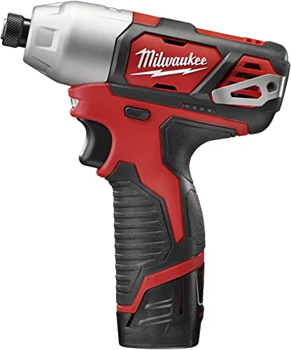 Milwaukee Electric Tool 2462-22 Milwaukee M12 Cordless Impact Driver Kit, 12 V