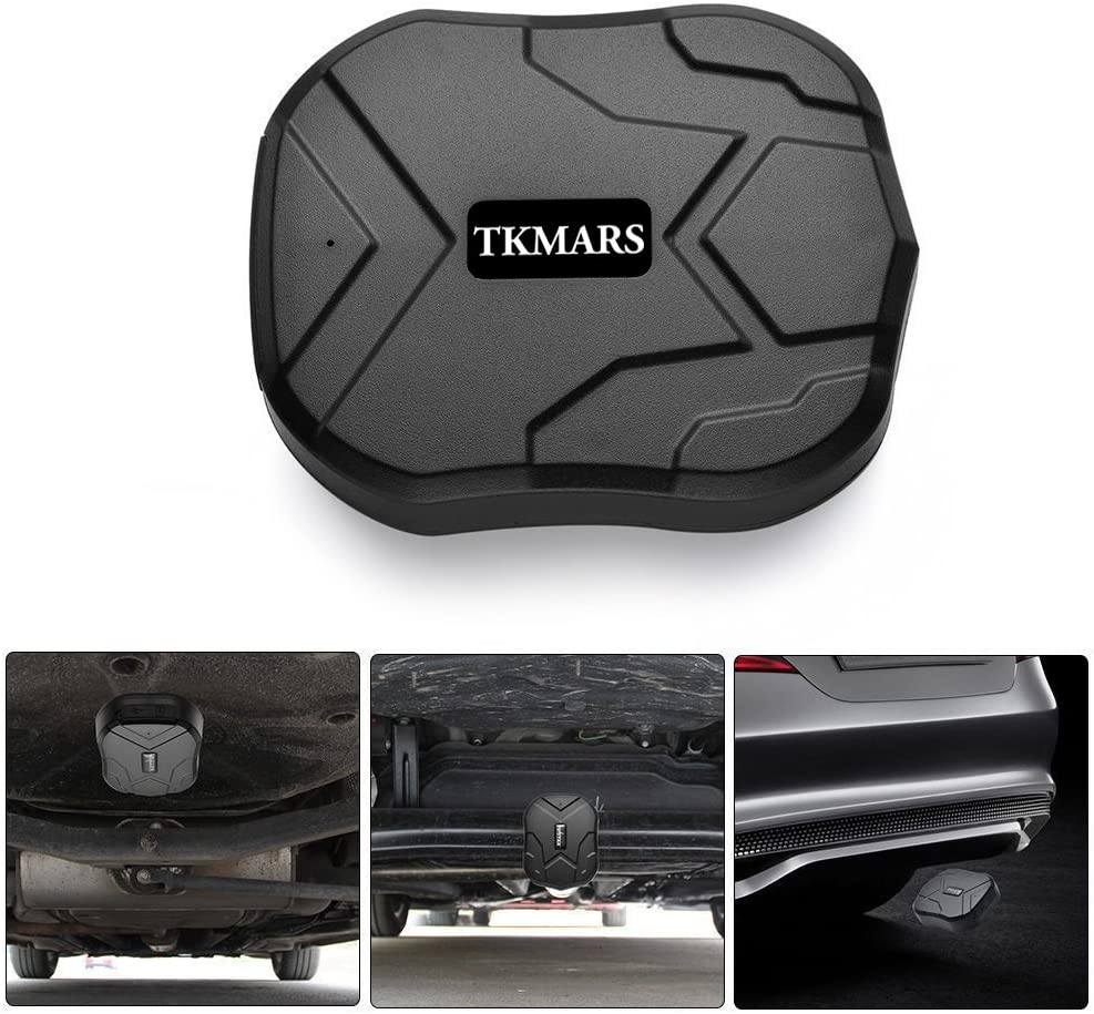 TKMARS GPS Tracker Standby Localizador GPS Finder Geo-Fence Imán Control Tracker de App para Coche.