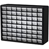 Akro-Mils 64 Drawer 10164, Plastic Parts Storage Hardware and Craft Cabinet, (20-Inch W x 6-Inch D x 16-Inch H), Black…