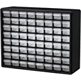 Akro-Mils 64 Drawer 10164, Plastic Parts Storage Hardware and Craft Cabinet, (20-Inch W x 6-Inch D x 16-Inch H), Black