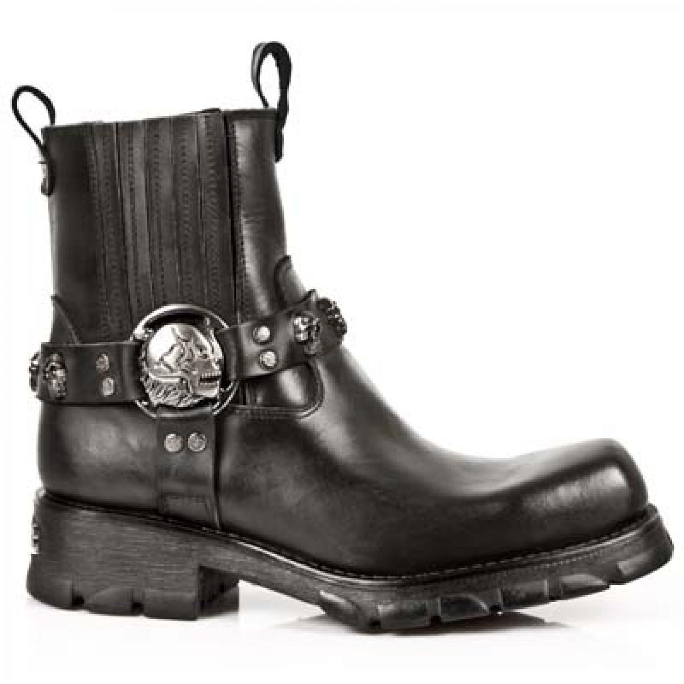New Rock Herren M 7621 s1 Cowboystiefel  Schwarz Black