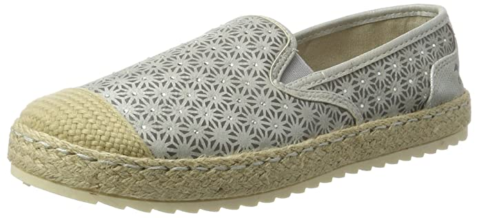 Womens 1245-203-203 Espadrilles, Ivory (203 Ice) Mustang