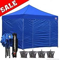 ABCCANOPY 15+Colors Commercial 10x10/10x15/10x20 Ez Pop up Canopy, Party Tent, Fair Gazebo and Roller Bag Bonus 4X Weight Bag