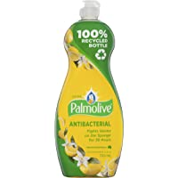 Palmolive Ultra Strength Antibacterial Dishwashing Liquid Concentrate with Lemon Extract Made in Australia 100% Recycled Bottle 750mL