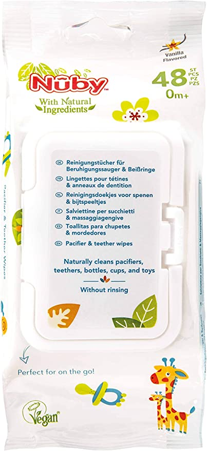 - 0 Mois 96 Lingettes Lingettes Antibact/ériennes N/ûby Citroganix 2x48
