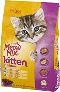 Meow Mix Cats Food Kitten Lil Nibbles Dry (3.15Pound X 2 Pack) Favorites Nutrition Wellness