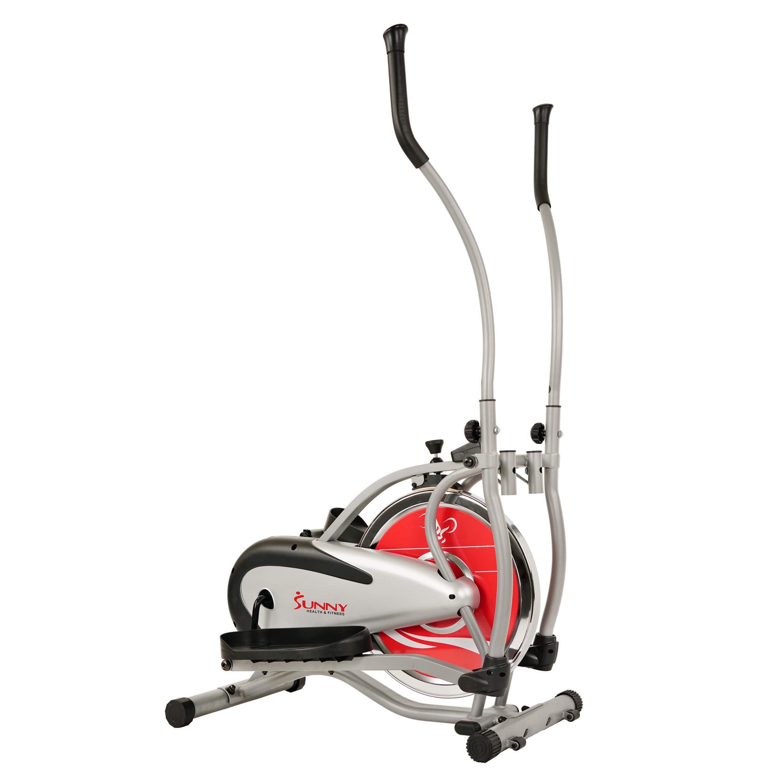 Sunny Health & Fitness SF-E1405 Flywheel Elliptical Trainer, Gray by Sunny Health & Fitness (Image #1)