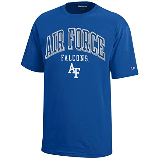 5bb7a6cbe4f0 NCAA Champion Boy's Short Sleeve Jersey T-Shirt Air Force Falcons Small