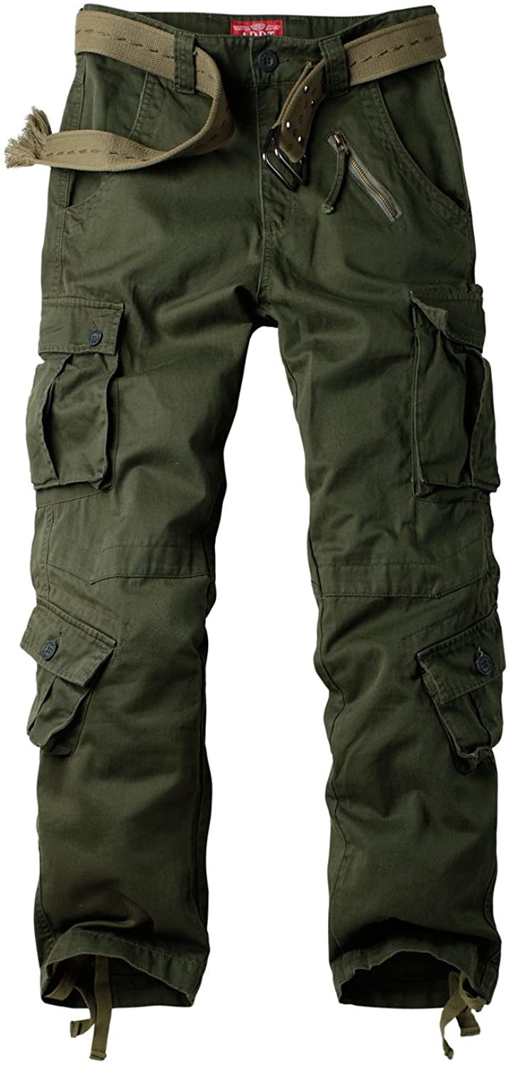 Mens Cargo Combat Trousers Casual Work Pants Military Multi Pockets All Sizes