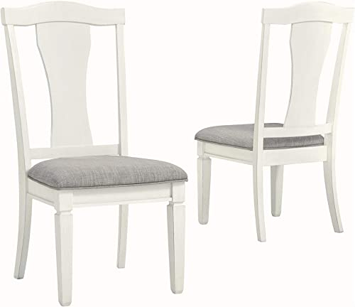 Benjara Fabric Seat Dining Side Chair